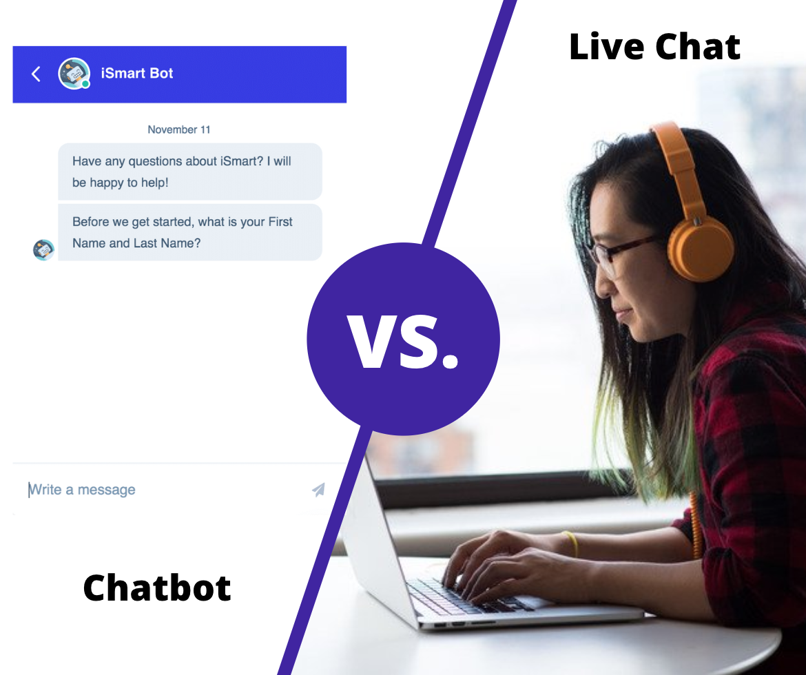 Chatbot vs. Live Chat for Conversions