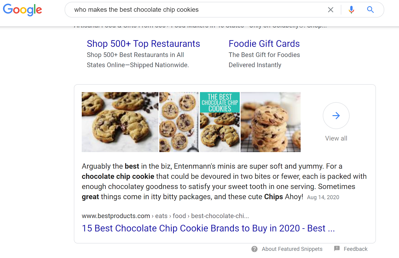 iSmart Communications Featured Snippet