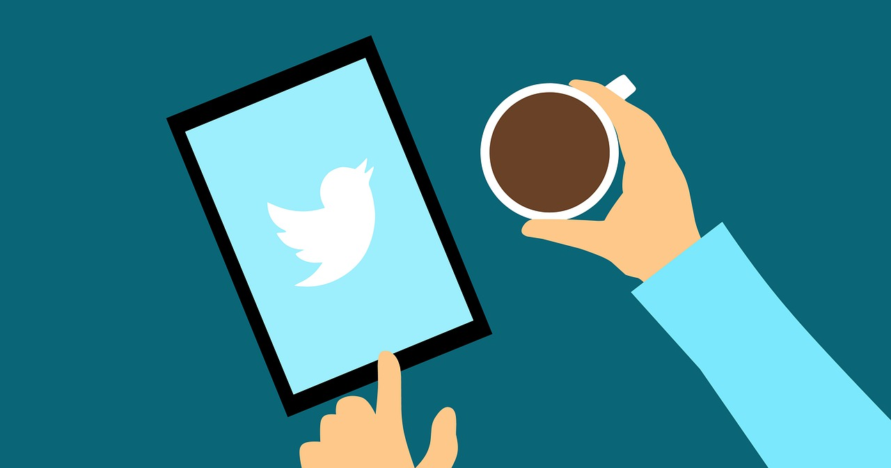Using Twitter with a Cup of Coffee Animation